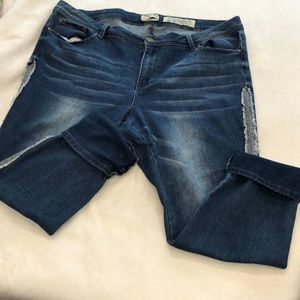 Indigo Rein sexy distressed fringed ankle #18D